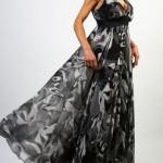 kalın askılı uzun en yeni model şifon elbise