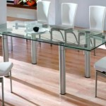 katlanır modern cam masa modelleri
