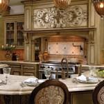 klasik şık amerikan mutfak tasarımı,