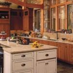klasil ahşap amerikan mutfak tasarım fikirleri