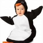 kostümlü penguen bebek uyku tulumu modeli