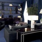 koyu renk italyan mobilya salon dekorasyonu
