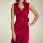 kruvaze fiyonklu elbise modeli