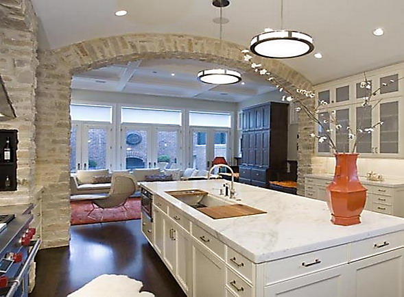 lüx amerikan mutfak tasarımı