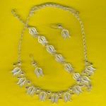 lale motifli otantik gümüş takılar