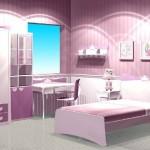 lila genç odası tasarımı