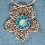 mavi boncuklu en son trend gümüş kolye