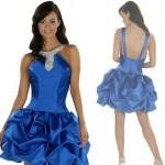 mavi en güzel genç abiye elbiseler