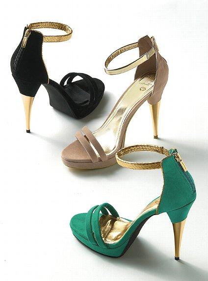 metal topuklu süet ayakkabılar