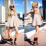 mini elbiseli günlük giyim modeli