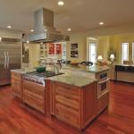 modern ahşap amerikan mutfak tasarımı