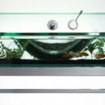 modern akvaryum lavobo tasarımı