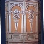 modern artistik boyama paravan tasarımı