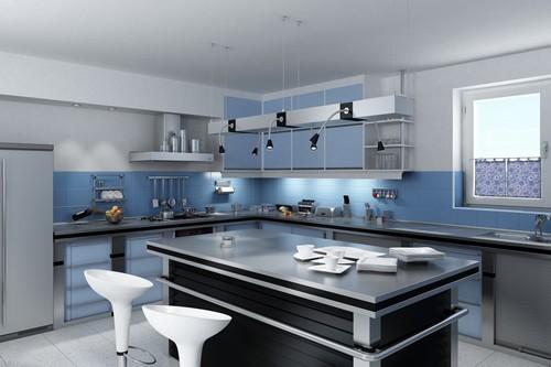 modern lüx amerikan mutfak tasarımı