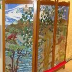modern manzara resimlidekoratif paravan tasarımı