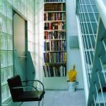 modern merdiven altı kitaplık tasarımı