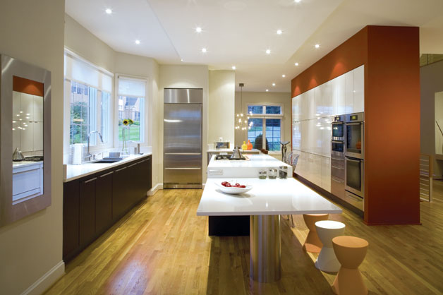 modern sade amerikan mutfak