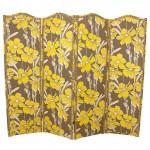 modern sarı çiçekli paravan tasarımı