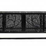 modern siyah metal kitaplık tasarımı