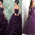 mor renkli taş işlemeli  tarlatanlı kabarık elbise