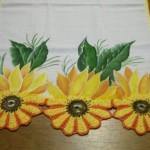 papatya kenarlı boyamalı ve işli havlu kenarı örneği