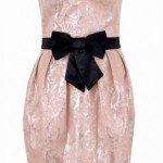 parlak pudra modern straplez elbise