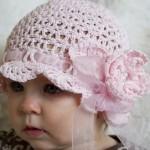 pembe güllü kurdelalı şapka