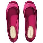 pembe saten babet ayakkabı