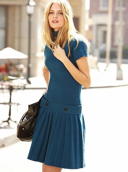 pileli boğazlı 2012 kışlık elbise tasarımı
