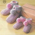 pompomlu bogazlı en güzel sıcacık bebek patik model ve örnekleri
