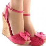 ptatformlu tokalı pembe ayakkabı 2012