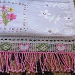 pullu sallantılı boncuklu havlu kenarı örnekleri