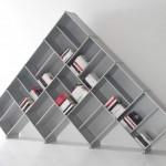 piramit şeklinde kitaplık modelleri