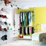 renkli rahat giyinme odası elbise dolapları