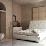 sade beyaz lüks yatak odası tasarımları