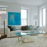 sade modern şık oturma odaları