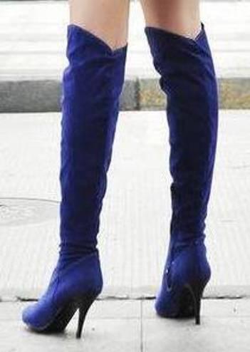 saks mavisi diz üstü çizme modeli örneği
