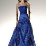 saks mavisi straplez kabarık elbise 2012