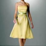 sarı çok trend genç abiye elbise modelleri