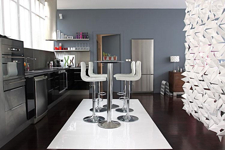 siyah beyaz lüx 2012 modern amerikan mutfak tasarımı
