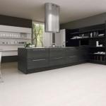 siyah beyaz modern lüx amerikan mutfak tasarımı