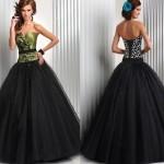 siyah tüllü kabarık elbise
