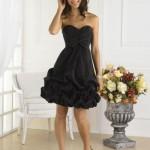 siyah trend genç abiye elbisaeler