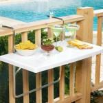son moda katlanır balkon masaları