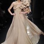 straplez en yeni şifon elbise resimli örneği