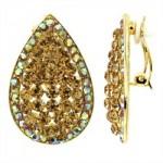 taşlı en güzel altın küpe örnekleri