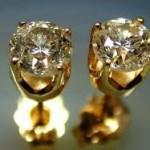 tek taş altın küpe modelleri