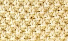 Düz ve Ters Örgü İlmekleri Tekli Pirinç Örgü