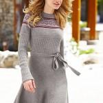 triko  belden kemerli kısa kışlık  elbise örneği