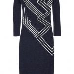 uzun kollu desenli kışlık bayan elbise